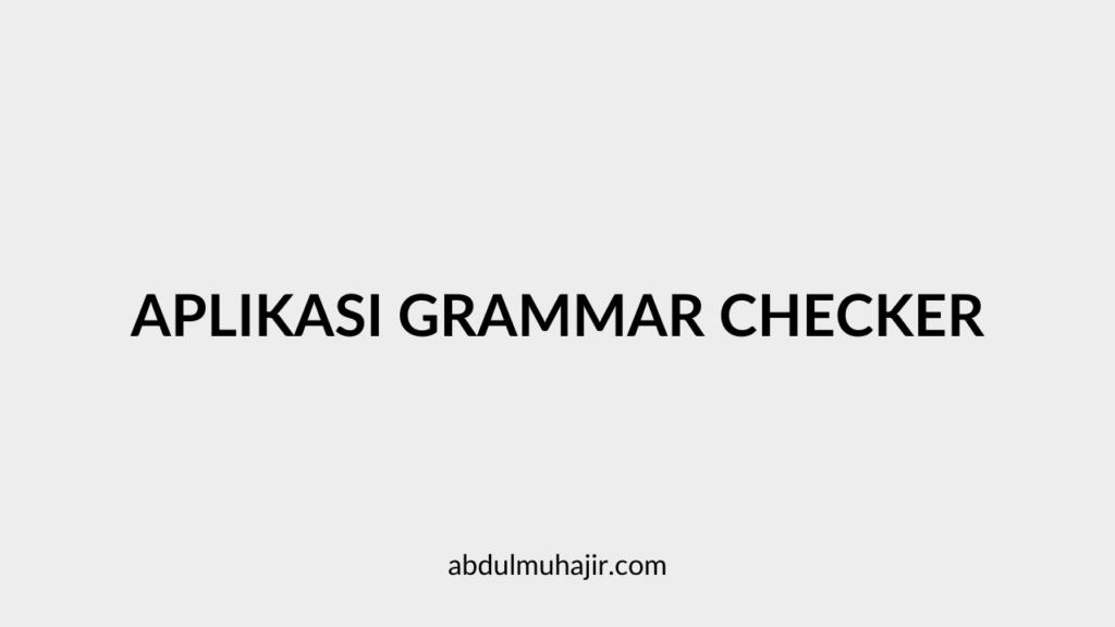 Aplikasi Grammar Checker
