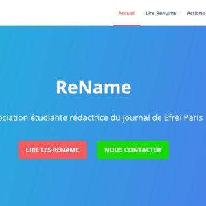 Site internet de Rename à sa création