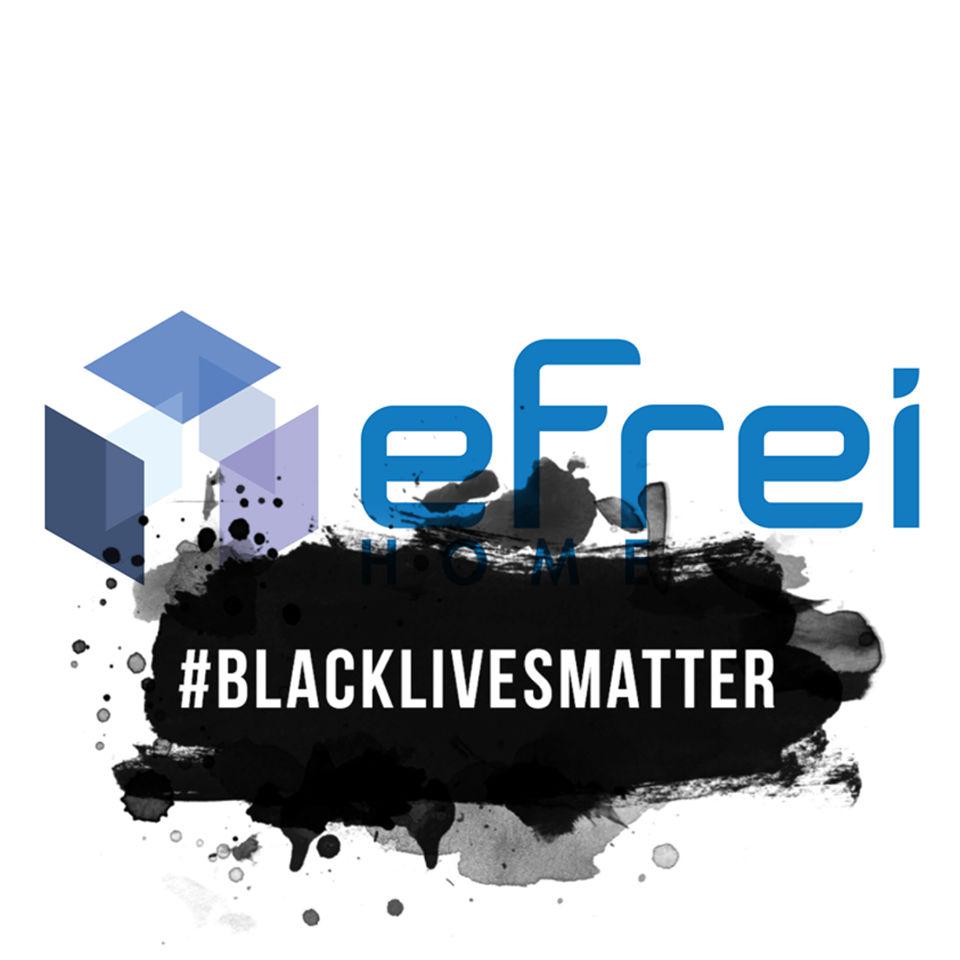 Logo d'Efrei Paris avec le sigle Black Lives Matter