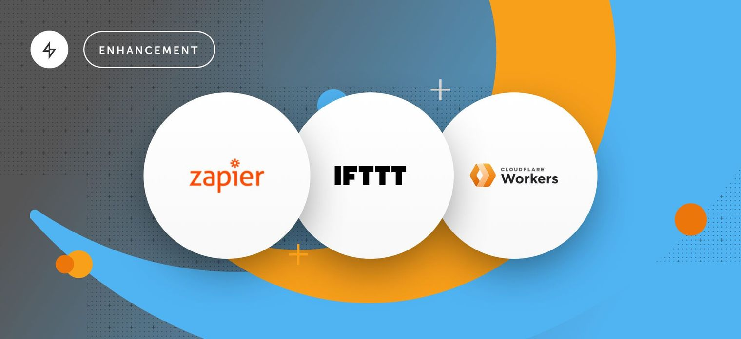 Ably integrates with Zapier, IFTTT, and Cloudfare Workers
