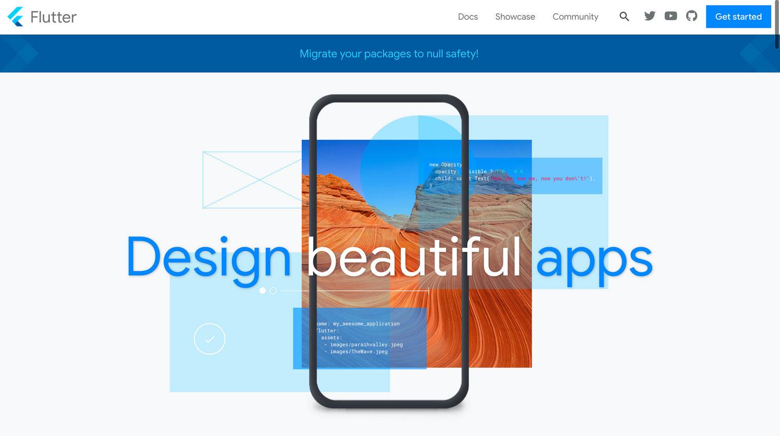 Flutter homepage