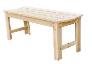 Shine Company 4 Ft. Backless Garden Bench, Natural