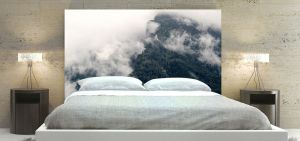 Clouds in the forest Headboard