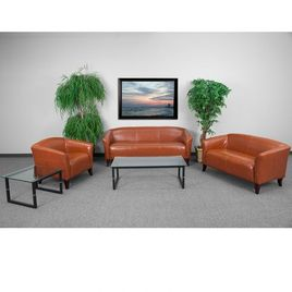 HERCULES Imperial Series Reception Set in Cognac LeatherSoft