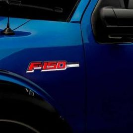 Ford F150 Illuminated Emblems 2-Piece Kit Includes Driver & Passenger Side Fender Emblems in Chrome - F150 in Red Illumination F150RD