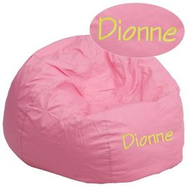Personalized Oversized Solid Light Pink Bean Bag Chair for Kids and Adults