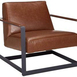 Modway Seg Bonded Leather Reception Chair, Brown