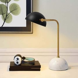 Modway Convey Bronze and White Marble Table Lamp in Yellow