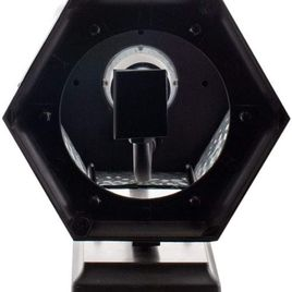 Euri Lighting EFL-130F-MD Flickering Flame Lantern, Frosted Glass, with Integrated Security Light (3000K), Photocell and Motion-Sensor (Dusk-to-Dawn), Oil Rubbed Bronze Housing