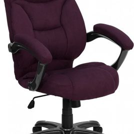 High Back Grape Microfiber Contemporary Executive Swivel Ergonomic Office Chair with Arms