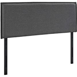 Modway Camille King Upholstered Fabric Headboard in Gray