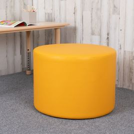 Large Soft Seating Collaborative Circle for Classrooms and Common Spaces - Yellow (18