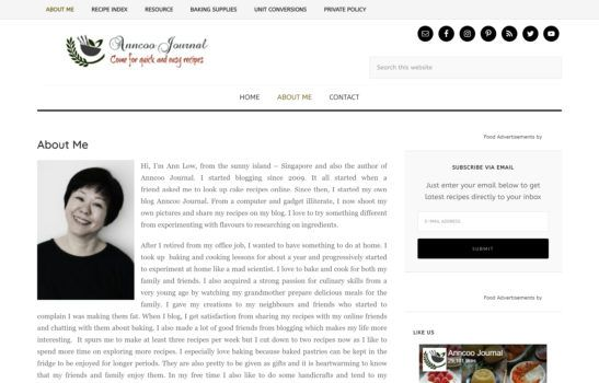 Anncoo Journal - About Page Screenshots