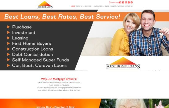 Best Home Loans - Home Page Screenshot