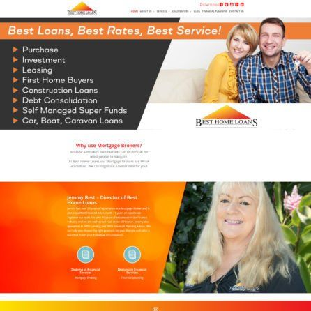 Best Home Loans - Website Screenshot