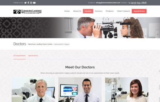 Glenmore Landing Vision Center Doctors Page