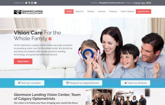 Glenmore Landing Vision Center Home Page