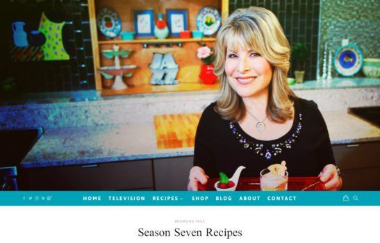 Jazzy Vegetarian - Season Recipe Page Screenshot