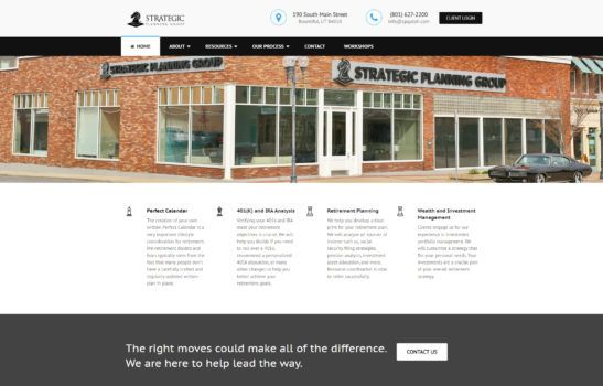 Strategic Planning Group - Home Page Screenshot