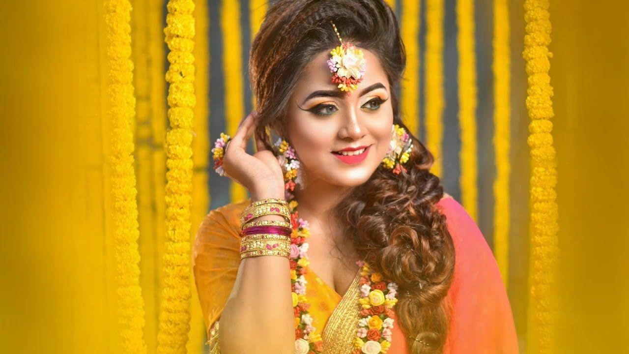 haldi look Bridal makeup look