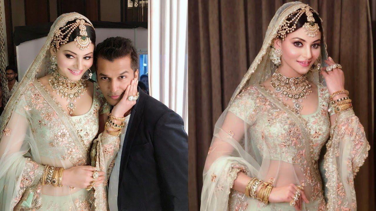Urvashi Rautella's wedding dress