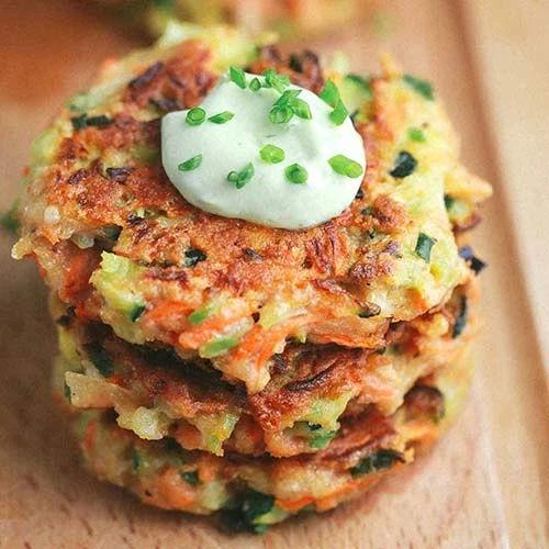 Vegetable Fritters wedding food