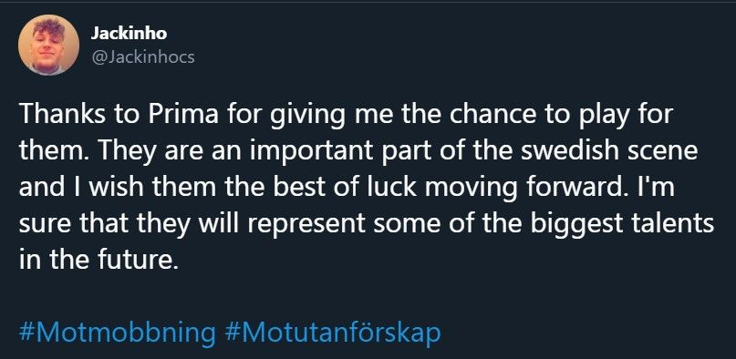 Jackinho following his departure from Prima Esport