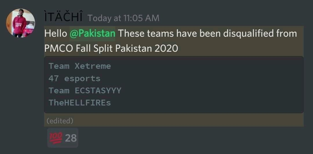 Pakistani teams disqualified