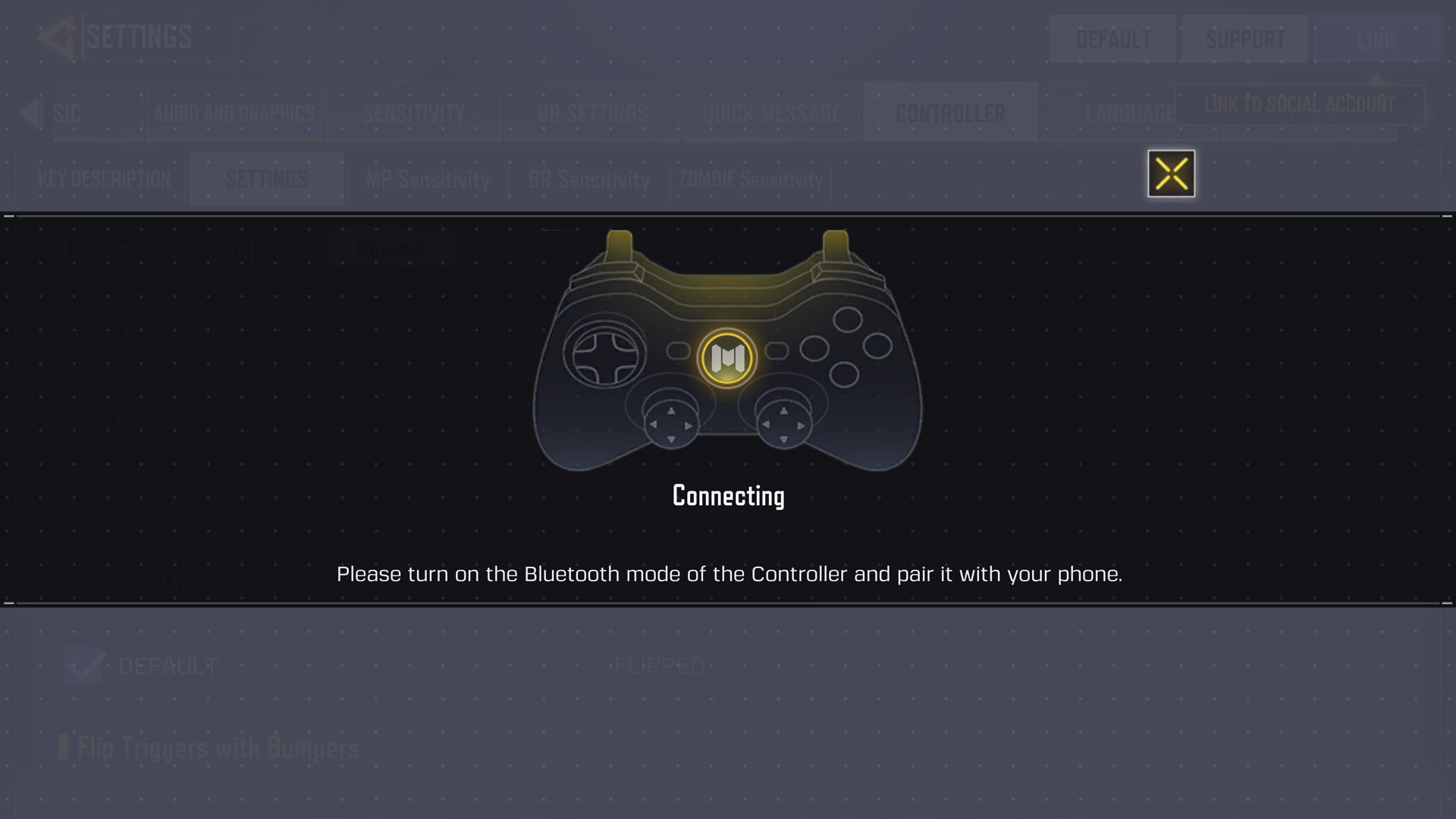 controller not connected