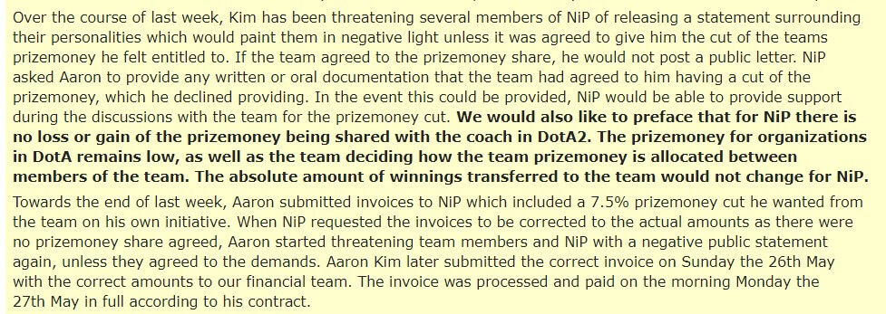 NiP's response to Clairvoyance's allegation of non payment