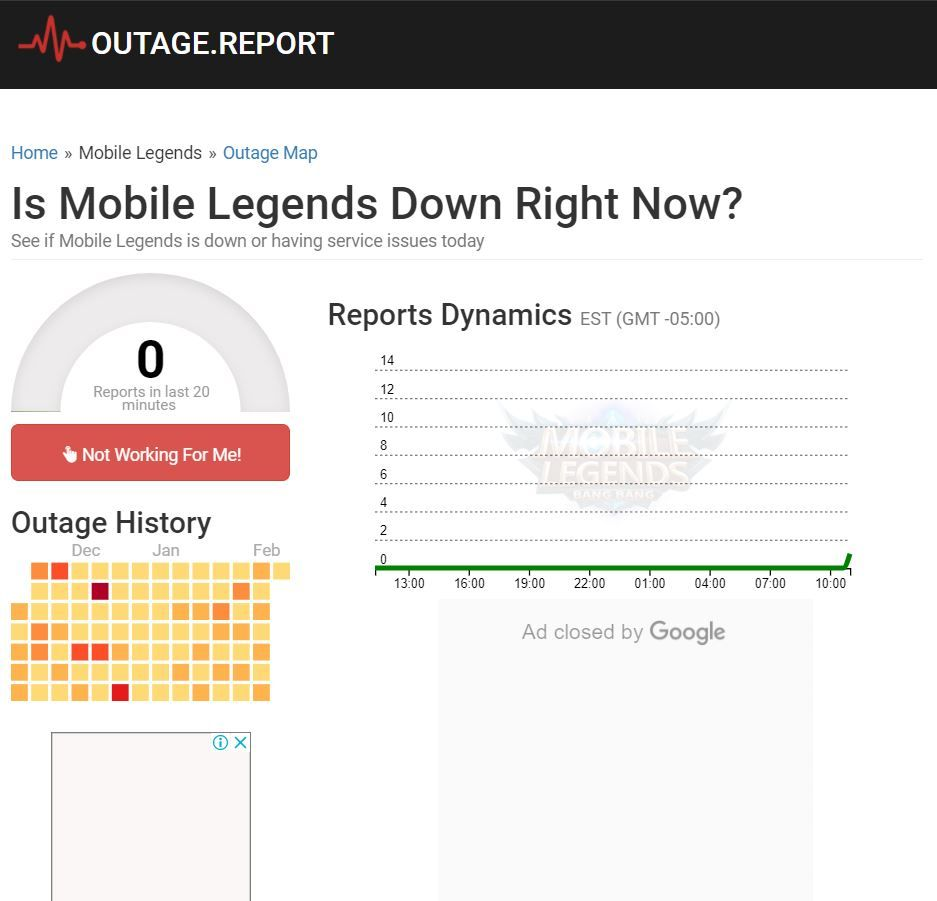 Outage Report