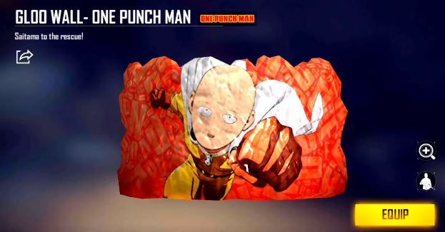Free Fire: How to Get One Punch Man Villain Backpack and Gloo Wall