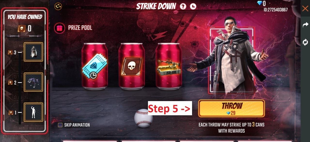How to Get to Free Fire Strike Down Event