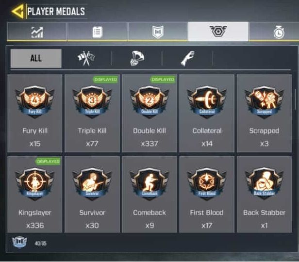 COD Mobile Medals List 2