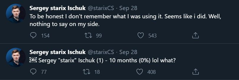 Starix casual attitude after being banned by ESIC
