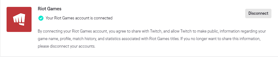 Connect Riot Games account to Twitch for VALORANT