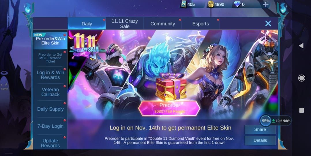 Hit the Pre-order For Free Elite Skin