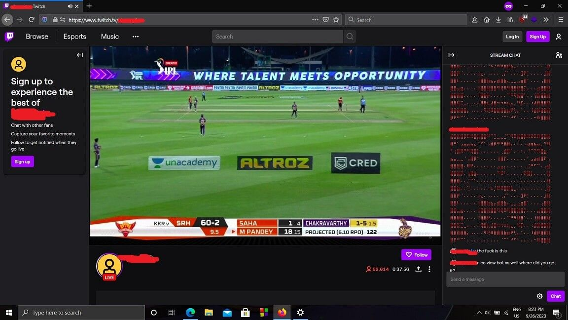 Twitch banned on JIO Networks
