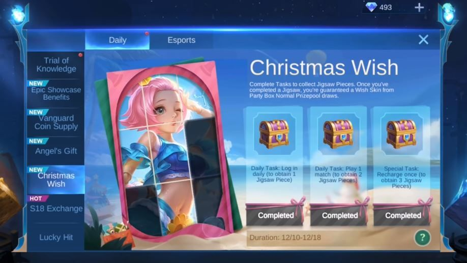 MLBB: Christmas Wish Event, Free Skin of Your Choice