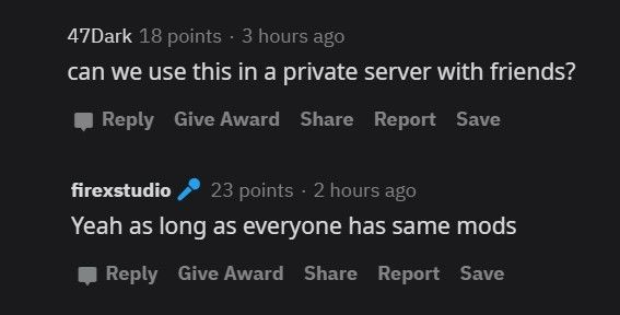 Mod is private server friendly
