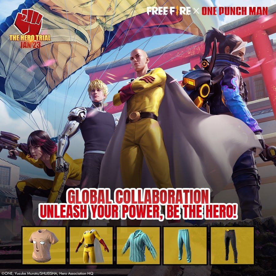 What We Know About the Free Fire x One Punch Man Collaboration