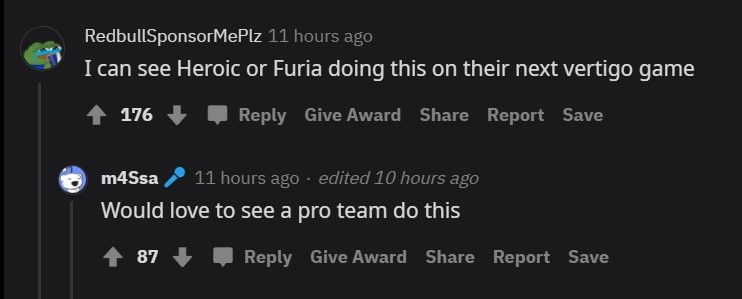 Community wants to see the boost in a professional match