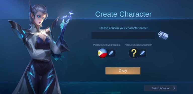 How to create a new account in Mobile Legends.