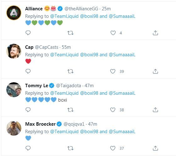 Dota 2 personalities react to Boxi's temporary leave from Team Liquid
