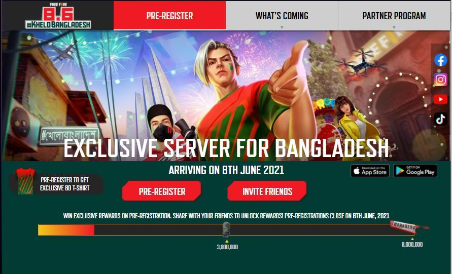 Free Fire is Adding Exclusive Servers for Bangladesh