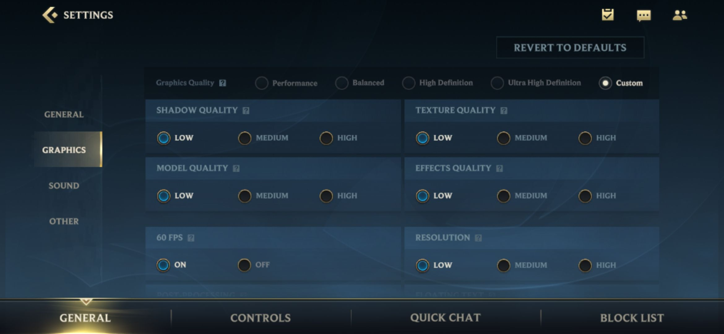 Best settings for Wild Rift for smooth gameplay.
