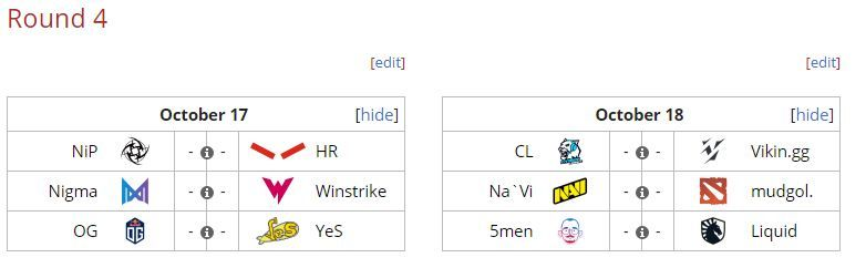 Round 4 matches of ESL One Germany 2020
