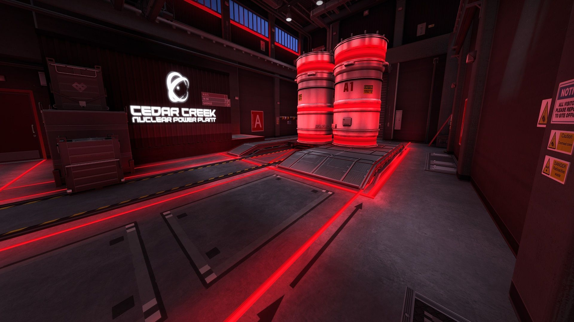 Nuke 'A-Site' is covered with red neon lights