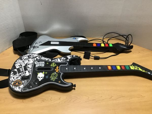 A guitar shaped controller