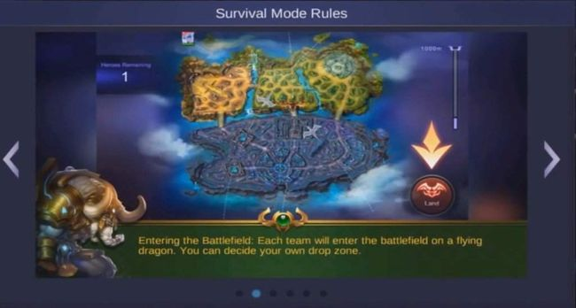 The map in Survival: Nexus mode is larger than the traditional MOBA map.